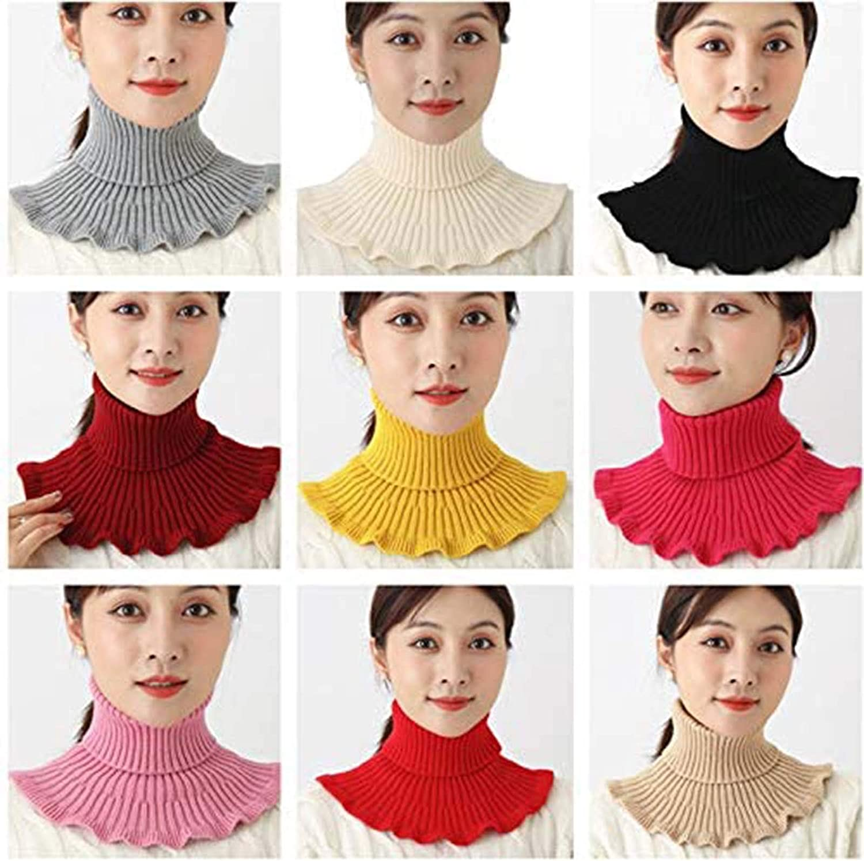 Fashion Turtleneck Dickey Women Detachable Turtleneck Top Half Blouse Collar Neck Warmer Cover for Women Gift HONESFRIENWL 2 Pcs Thermal Fake Turtleneck