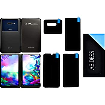 Aeidess Anti Shock Armor Screen Protector Flexible Screen Guard for LG G8X ThinQ Covers All Three Screens & Camera Front & Back All Side Protection (Transparent)
