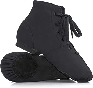 Adult Broadway Jazz Over-The-Ankle Canvas Jazz Boot T7502