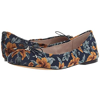 Sam Edelman Felicia (Baltic Navy Multi Lavish Floral Velvet Burnout) Women