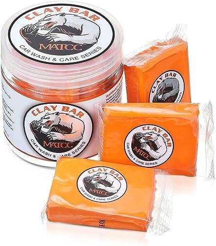 MATCC Car Clay Bar Auto Detailing Clay Bar 3 Pack 100g Premium Grade Clay Bar Cleaner Washing Supplies with Washing a...