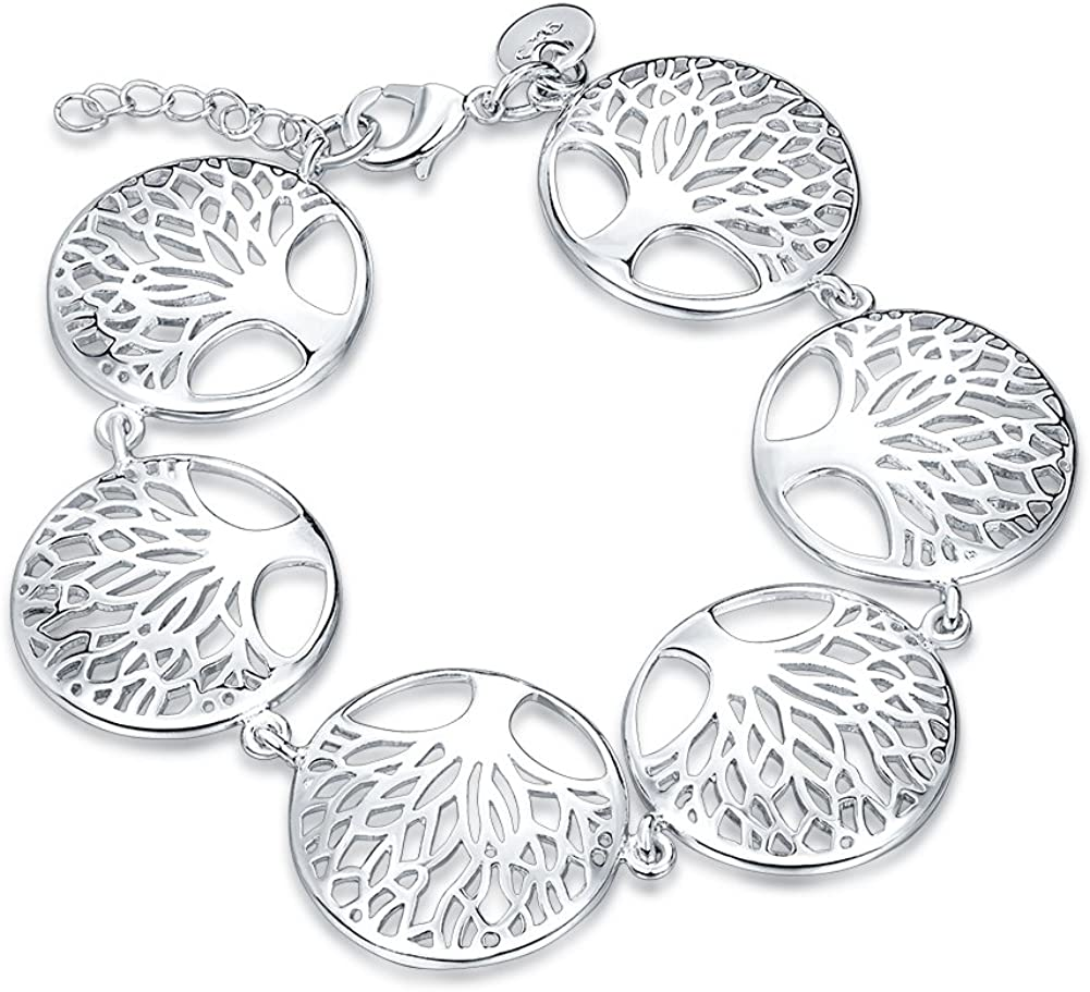 Mirabella BellaMira 925 Sterling Silver Max 46% OFF Life of Trust Tree Earr Plated