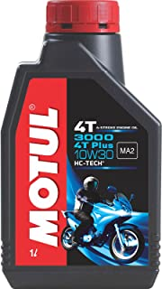 Motul 3000 4T Plus 10W30 Engine Oil for Bikes (1 L)
