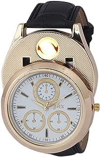 Skylofts Analog Gold Dial Men's Cigarette Lighter Watch