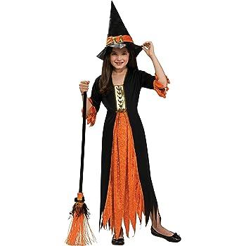 Halloween - Disfraz de Bruja gótica para niña, Talla M infantil 5 ...