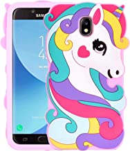 Allsky Case for Samsung Galaxy J3 2018/J3 V 3rd/Express Prime 3/Achieve/J3 Star,Cartoon Soft Silicone Cute 3D Cool Cover,Kawaii Unique Kids Girls Teens Animal Character Cases for J3 2018 Vivid Unicorn