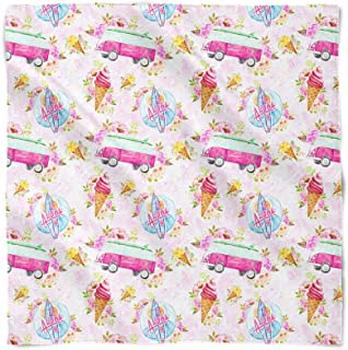 Beach Time Pink Campervan Satin Style Scarf