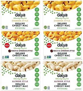 Daiya Cheezy Mac Variety Pack :: 3 Flavors - Cheddar, Bac'n Cheddar, Alfredo ::Rich & Creamy Plant-Based Mac & Cheese :: D...