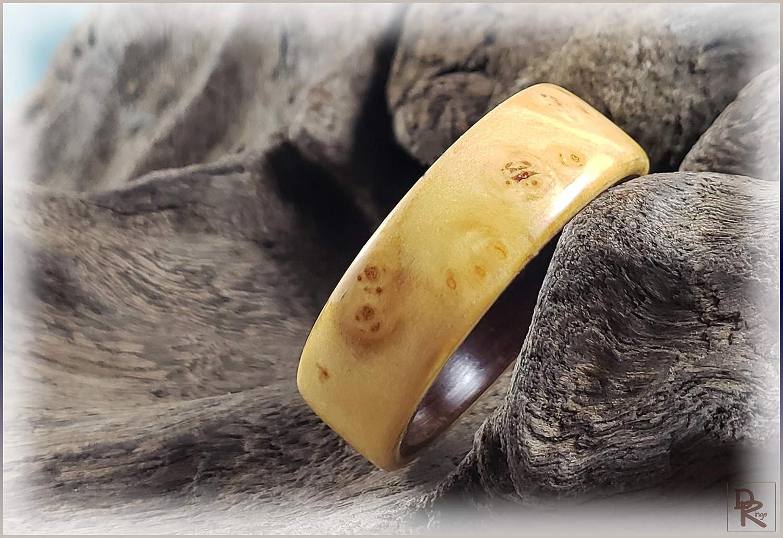 Bentwood shop Ring - Rare Nutmeg on Ironwood Burl ring Elegant core