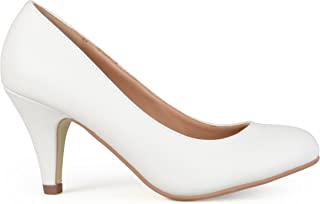 Womens Round Toe Solid Color Pumps