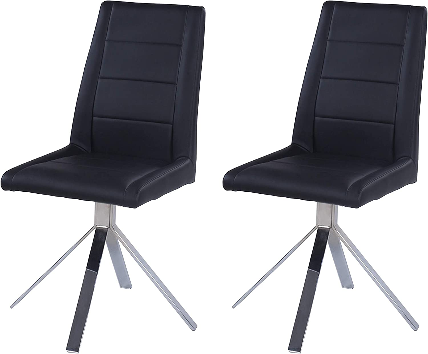MILAN Trinity Black Limited time sale Channel Back 2021 spring and summer new of Side 2 Chair Set
