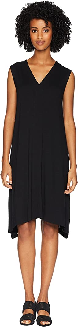 Lightweight Viscose Jersey V-Neck Dress