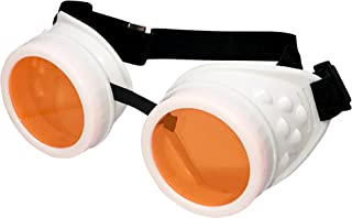 UV Glow in The Dark Steampunk Rave Goggles Meme Glasses- Willy Wonka Costume