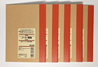MUJI Blank Notebook A6 Unruled 30sheets - Pack of 5books