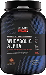 GNC AMP Wheybolic Alpha Whey Protein Powder, Chocolate Fudge, 22 Servings, Contains 40g Protein and 15g BCAA Per Serving