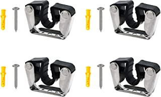 YYST Pole Light Storage Clips Boat Hook Clamp Holder General Purpose Bracket Clip Fit from 3/4 Inch to 1-3/16 Inch Pole for Paddle Boat Oar Stern Pole Light Pool Pole,etc