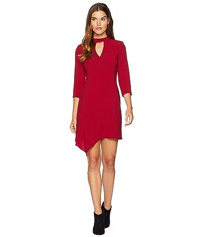 Nanette Lepore Heartthrob Crepe Dress (Ruby) Women