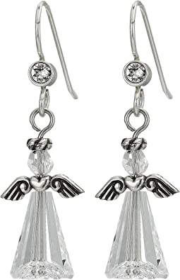 Tinsel Town Angel French Wire Earrings