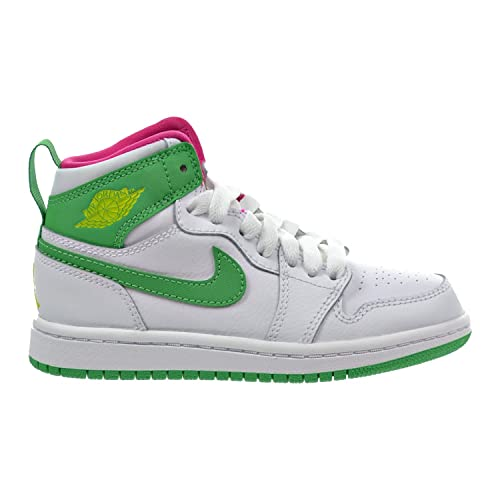 best service 026f7 32dcc Jordan 1 Retro High GP Little Kid s Shoes White Gamma Green Vivid Pink