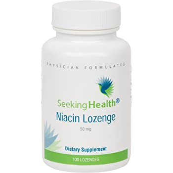 Niacin Lozenge | Provides 50 mg of Niacin as Nicotinic Acid | Vitamin B3 | Free of Magnesium Stearate | Non-GMO | Natural Cherry Flavor | 100 Lozenges | Seeking Health