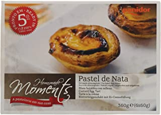 Panidor Frozen Homemade Moments Portuguese Custard Egg Tart (6 Pieces), 360 g - Frozen