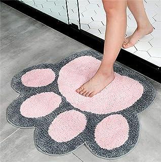 Big Feet Shape Rug Bath Toilet Mat Area Rugs Carpet Doormat Floor Mat Absorbent Mats Bathroom Rugs Living Room Bedroom Kit...