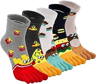 ZFSOCK, Calcetines de dedo del pie para mujer, calcetines de cinco dedos, calcetines de algodón con dedos de los pies, calcetines deportivos novedosos 4/5 pares