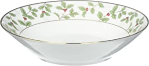 Noritake Holly and Berry Gold Soup Bowl