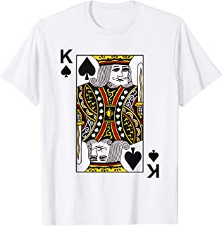 King of Spades Tshirt Blackjack Cards Poker 21 K Tee shirt