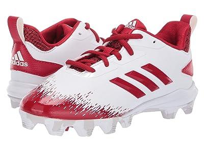 adidas Kids Afterburner V MD Baseball (Toddler/Little Kid/Big Kid) (Cloud White/Red/Grey) Kids Shoes