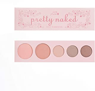 100% PURE Pretty Naked Palette (Fruit Pigmented), Everyday Makeup Palette w/ 3 Eyeshadows, Blush, Face Highlighter, Natura...