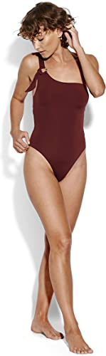 Seafolly Maillot 1 Pièce One Shoulder, Plum - Active