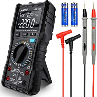 Multímetro Digital de Voltaje Corriente AC DC MESTEK Pantalla VA Inversa Anti-quemaduras NCV VFC Amp Volt Ohm Hz Diodo Resistencia Frecuencia Capacitancia