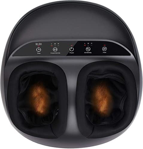 RENPHO Shiatsu Foot Massager Machine with Heat, Deep Kneading Therapy, Air Compression, Relieve Foot Pain from Planta...