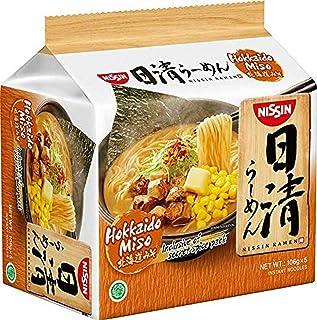 Nissin Ramen Hokkaido Miso Instant Noodle 5 Packets, 530 g