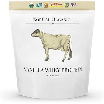 Natural Norcal Organic Grass Fed Whey Protein Powder (Vanilla)