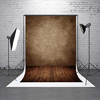 5x7ft Brown Abstract Photo Backdrops Fabric Wood Floor Portrait Photography Background for Studio Prop