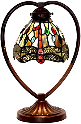 JEANN WSLamp Tiffany Style Table Lamp Baroque Simple Stained