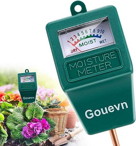 Gouevn Soil Moisture Meter, Plant Moisture Meter Indoor & Outdoor, Hygrometer Moisture Sensor Soil Test Kit Plant Wat...