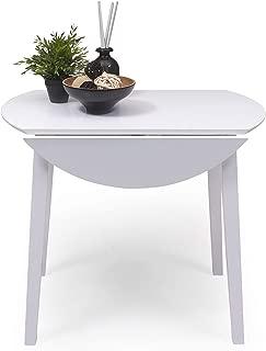Mesa de Comedor o Cocina Redonda Extensible Dallas de 90 cm