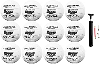 Jsport (Pack of 12) Volleyballs - Soft Touch Leather - Indoor/Outdoor