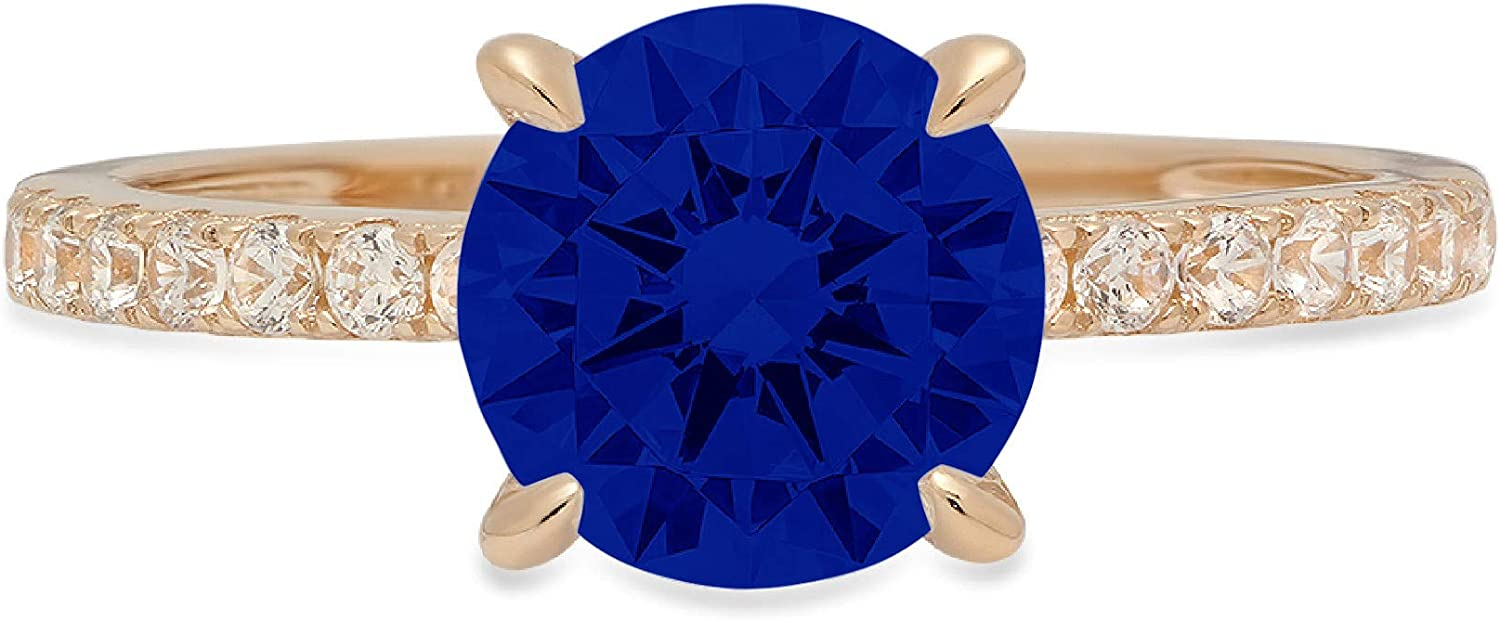 1.61ct Brilliant Round discount Cut Solitaire Flawless Blue Sap Ranking TOP10 Simulated