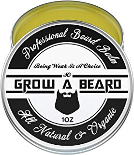 Beard Balm 1oz, Leave-in Conditioner & Softener for Men Care, Best Facial Hair & Mustache Grooming Wax, Great for Smooth & Moisturize, Natural & Organic.