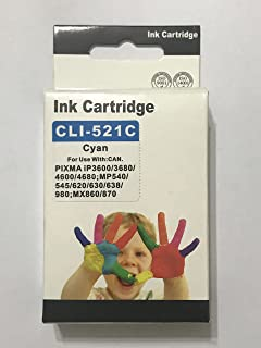 ink 521 c comptable with canon printer ip3600-ip4700