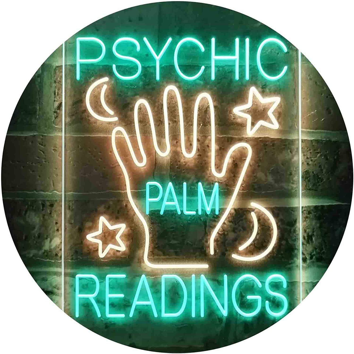 ADVPRO Psychic Baltimore Mall Palm Readings Dual Color LED Sign Neon Ye Max 88% OFF Green
