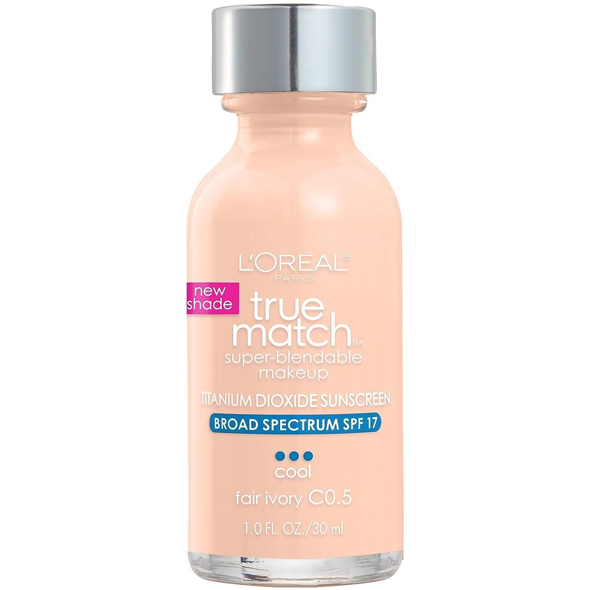 いつか根絶する純正L'Oréal True Match Super-Blendable Foundation Makeup (FAIR IVORY)