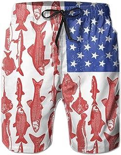 YongColer Mens Maryland State Flag Crab Swim Trunks Beach Board Shorts