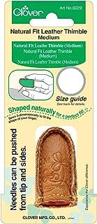 Natural Fit Leather Thimble-Medium