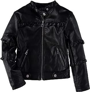 Urban Republic Girls' Metallic Moto Faux Leather Jacket