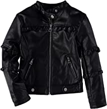 Urban Republic Girls' Metallic Moto Faux Leather Jacket